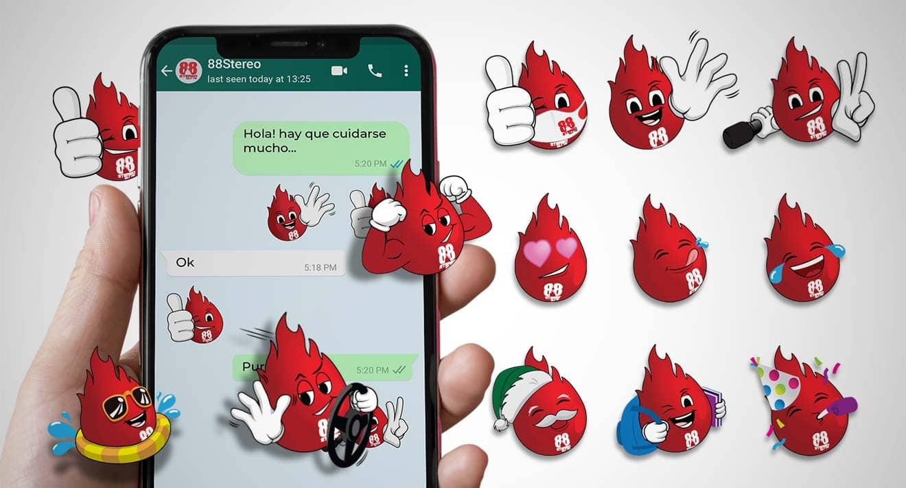 celular con emoticons de 88stereo